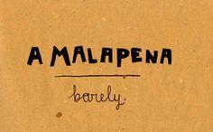 Learning Italian - A Malapena