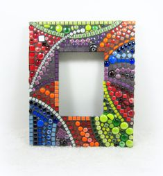 PERSONALIZED custom made to order Mosaic Photo Frame  by JillsJoy