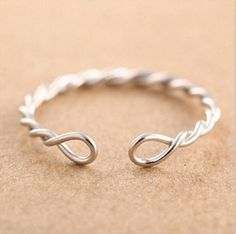 925 Sterling Silver Twisted Rings For Women bague femme fashion Wedding Rings Jewelry Anel Feminino Anillos Joyas De Plata Wire Jewelry Designs, Handmade Wire Jewelry, Handmade Rings, Wire Wrapped Jewelry, Diy Jewelry, Beaded Jewelry, Jewelery, Jewelry Making, Gold Jewellery