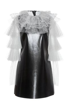 Philosophy Di Lorenzo Serafini  Eco-Leather Lace Dress