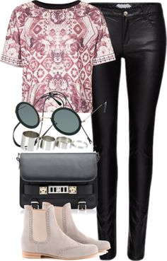 Polyvore  Untitled #825 by roxy-camarena featuring a black purse