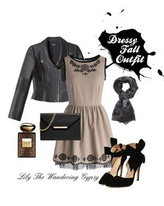 Dressy Fall Outfit In Black and Tan