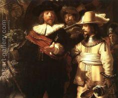 The Nightwatch (detail-1) 1642 by Rembrandt Van Rijn
