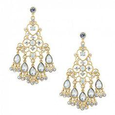 Jon Richard Online exclusive crystal peardrop earring- at ...