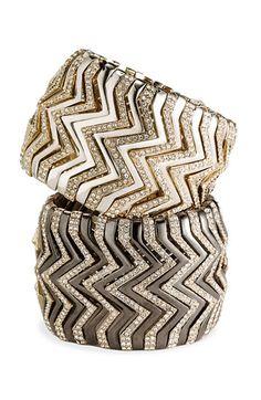 Cara Accessories Wide Chevron Stretch Bracelet