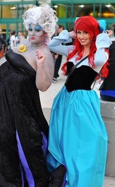 Lisa Fabio and Traci Hines as Ursula the sea witch and Ariel from the Little Mermaid ❤ at the 2012 D23 expo ❤❤❤❤❤❤❤❤❤❤❤