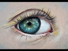 How to Draw a Realistic Eye with Pastels - YouTube