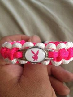 Playboy Bunny Handmade Paracord Bracelet FREE SHIPPING