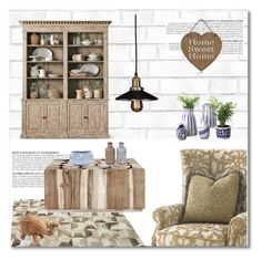 """""""old fashioned"""" by limass ❤ liked on Polyvore featuring interior, interiors, interior design, home, home decor, interior decorating, Tempaper, Anja, Linie Design and Zara Home"""