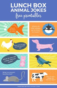 Give your kids a lunch box surprise with these free printable funny kids jokes. They're colorful and fun! Click through to download them…