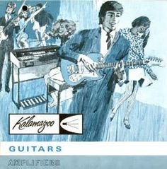 Kalamazoo Guitars ad, from Angie Nelson Art and Design blog