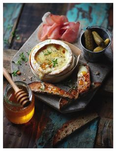 Baked Camembert with Honey-Walnut Toast, from 'Spoonsful of Honey' by Hattie Ellis