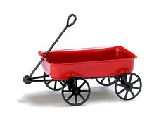 A cute little dollhouse miniature red metal wagon. Notice this is not a life size product and is intended for miniature hobbyists. Overall height is 1 tall, wagon measures 2 long x 1 wide. Kids Wagon, Toy Wagon, Miniature Rabbits, Miniature Dolls, Garden Wagon, Factory Direct Crafts, Mini Fairy Garden, Fairy Gardens, Little Red Wagon
