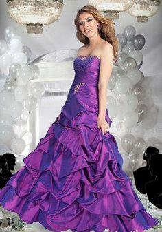 Great Taffeta Floor Length A line Natural Waist Prom Party Dress - Lunadress.co.uk