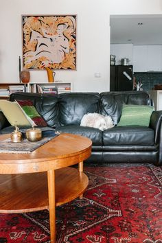 Kathryn and Anthony's Eclectic Australian Home --- that rug tho