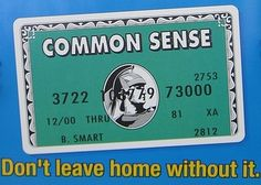 Common sense.  Don't leave home without it.