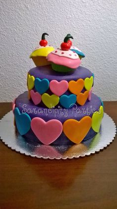 Hearts and Cupcakes Cake!