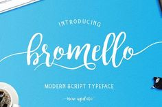 Chameo design loves this font for branding, logo, graphic design I entrepreneurs, bloggers, startups I bromello typeface by alit design on @creativemarket