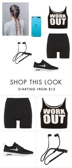 """""""workout"""" by batmanlovesnutella ❤ liked on Polyvore featuring Lucas Hugh, WearAll, NIKE and Skullcandy"""