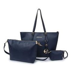Michael Kors Jet Set Travel Large Navy Totes