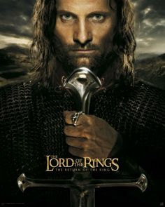 Poster Lord of the rings Le seigneur des anneaux Aragorn