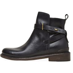 Rag & Bone Driscoll Boot (1,950 CNY) ❤ liked on Polyvore featuring shoes, boots, ankle booties, sapatos, short boots, leather ankle boots, black bootie boots, black boots and leather bootie
