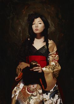 The paintings of the American artist Soey Milk, based in Los Angeles, who imagines portraits of sensual and mysterious women, tinged with her Korean heritage. Superflat, Milk Art, Photo D Art, Illustration Art, Illustrations, Looks Cool, Beautiful Paintings, Oeuvre D'art, Figurative Art