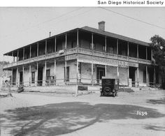 Title:  Automobile parked in front of Casa de Bandini in Old Town  Date:  [ca. 1928] 1923/1933  Contributing Institution:  San Diego History Center (formerly San Diego Historical Society)