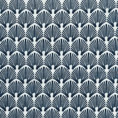 Fabric from India: Scallop - Navy