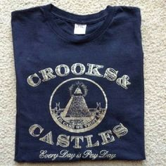 Crooks and Castle Shirt Men's   Gently used. Size L Black and Gold 100%Cotton Tops Tees - Short Sleeve