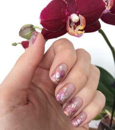 Art nail 2017 pink silver
