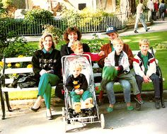 Princess Diana and her beloved boys photographed with Mary and her children. Mary was the wife of Diana's butler, Paul Burrell.    At Bristol Zoo, on 1991