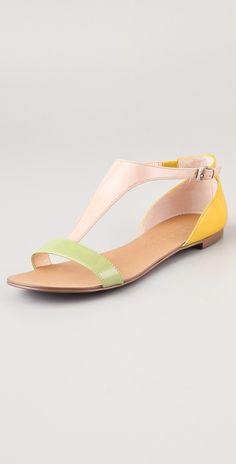 { Boutique 9 Piraya Multicolor T Strap Sandals }