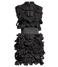 Gorgeous-LANVIN-H-M-Black-Ribbon-Dress-Alber-Elbaz-New-w-garment-bag