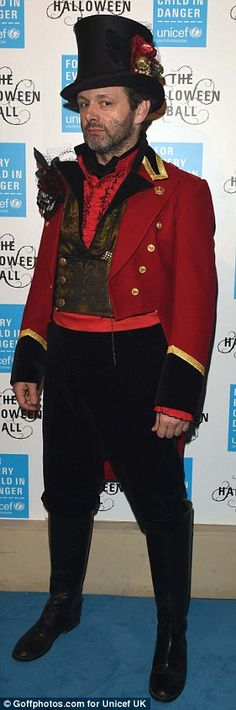 Roll up, roll up: Welsh actor Michael Sheen dressed as a circus ringmaster