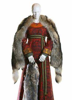 Block printed Norse/Russian garb.