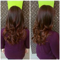 Rich auburn brown with a taste of copper  #redombre #redhead #redhair