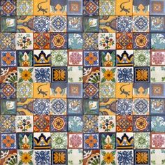 "Hand Painted Decorative Tiles Interesting 100 Hand Painted Talavera Mexican Tiles 2""x2""  Wall Tiles Tile Decorating Design"