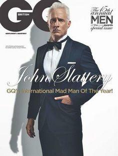 Mad Men John Slattery stars the very, very stylish cover GQ cover UK edition John Slattery, Pretty Men, Beautiful Men, Gq Magazine Covers, Man Parts, Actor John, Fashion Mag, Men Fashion, Gq Men