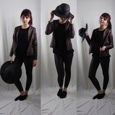 Jacket dark purple with black strips Dark Purple, Black Jeans, Normcore, Pants, Jackets, Style, Fashion, Down Jackets, Moda