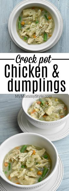 Easy and delicious Crock pot chicken and dumplings