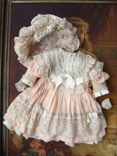 Beautiful costume for large antique bebe. from les-fees-du-temps on Ruby Lane