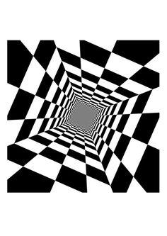 Dibujo para colorear ilusión óptica