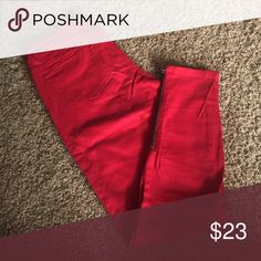Red skinny pants Zipper on the side. In great condition. Aeropostale Pants Skinny