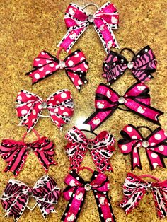 Check out my new hair bow shop on Etsy. Making custom order bows for sports teams as a fundraiser for Travel Softball and Swimming for my twin girls. This one is a custom lot for a softball team in pink, white, and black that was requested. Please repin and share with others!