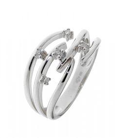 b0eb1289eb170 Bague Or Blanc Diamant Ref. 28720 : Bague pour Femmes en Or Blanc 750  disponible
