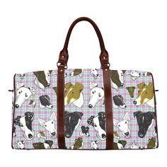 Smooth fox Terrier Plaid Pastel Waterproof Travel Bag/Large (Model 1639)