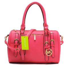 I own not one designer purse but am loving this color! Michael Kors Grayson Large Pink Satchels $68.99