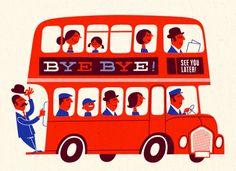 london red double decker bus illustration