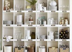The best Ikea hack ideas we've seen. These Ikea hacks are stylish and allow you to create designer furniture cheaply. Find ideas for your Ikea hack project. Ikea Cubbies, Cubby Shelves, Kallax Box, Ikea Kallax, Expedit Hack, Painted Plant Pots, Living Etc, Best Ikea, Ikea Hackers